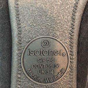 isotoner Shoes - Isotoner Signature black ballerina style slippers